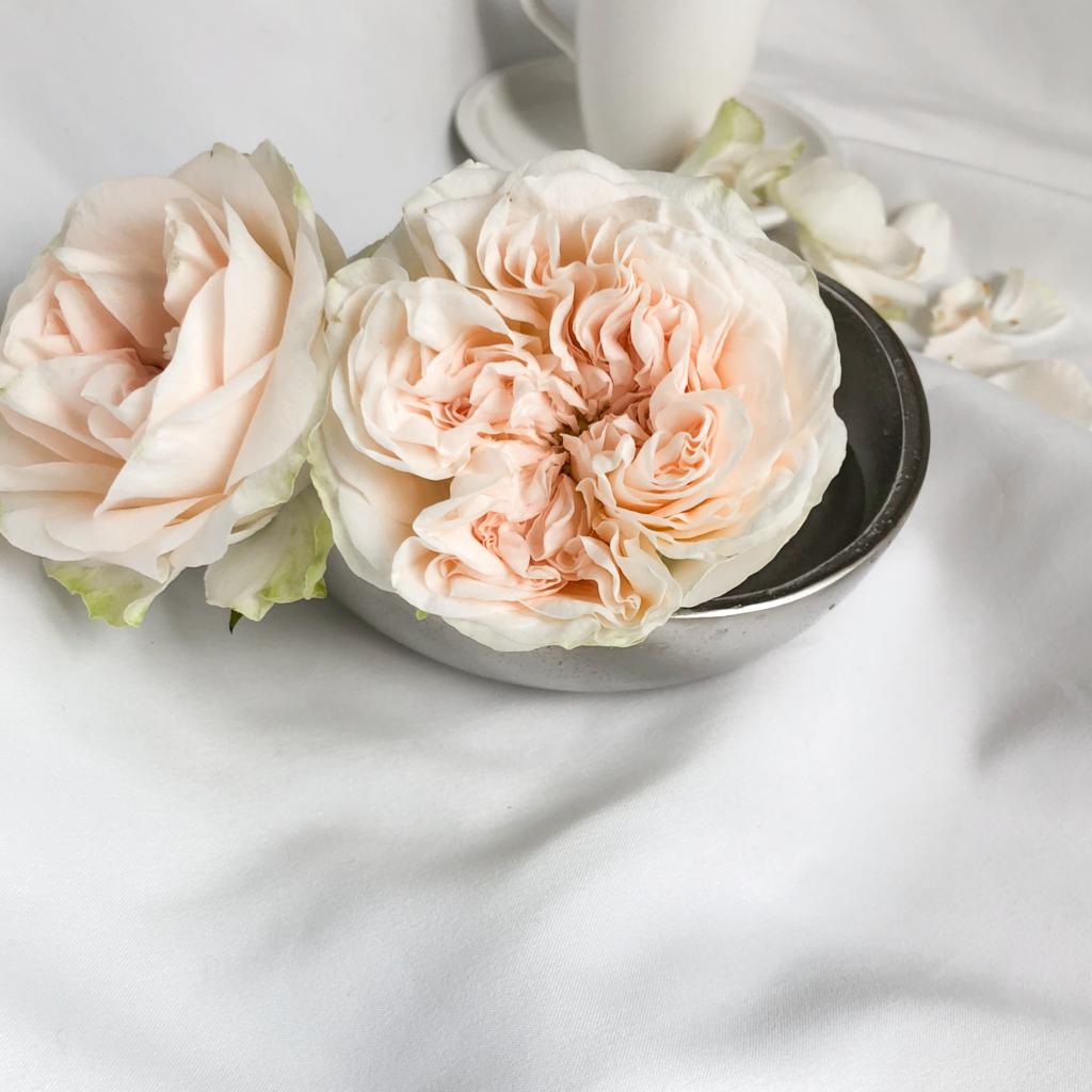 バラ風呂に使ったアンティークカラーのバラの写真