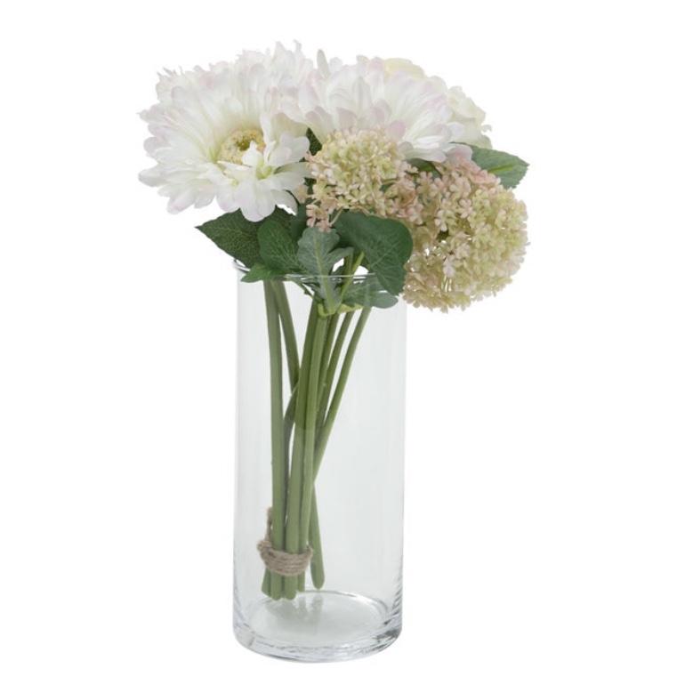 ニトリの花瓶フラワーベースシリンダー20㎝の写真