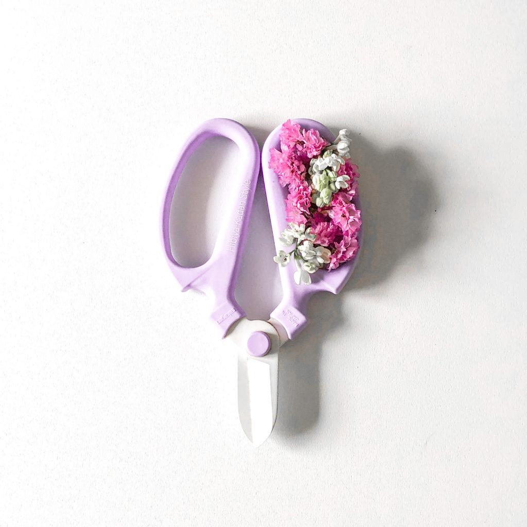 水切りの時に使う日比谷花壇さんの生花ハサミを私が撮影した写真
