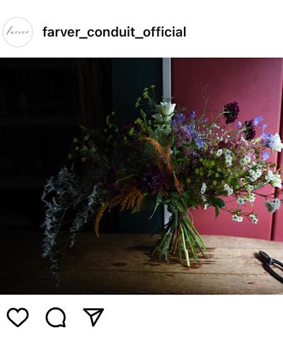farver(ファーヴァ)公式インスタグラムから引用したブーケの画像