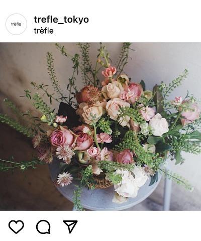 trèfle(トレフル)公式インスタグラムから引用したアレンジメントの画像