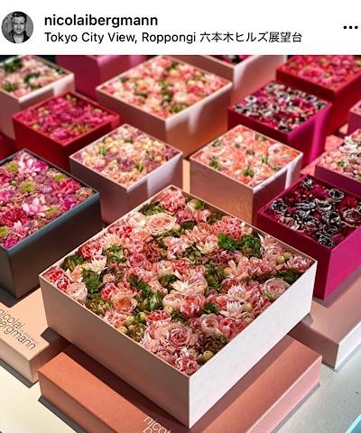 ニコライバーグマン フラワーズ&デザイン公式インスタグラムから引用したフラワーボックスの画像