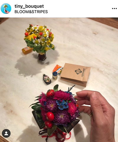インスタグラムtiny_bouquetから引用したタイニーブーケの画像