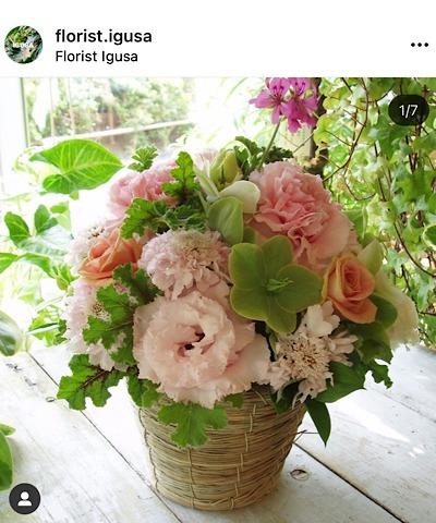 Florist IGUSA(フローリスト イグサ)公式インスタグラムから引用したアレンジメントの画像
