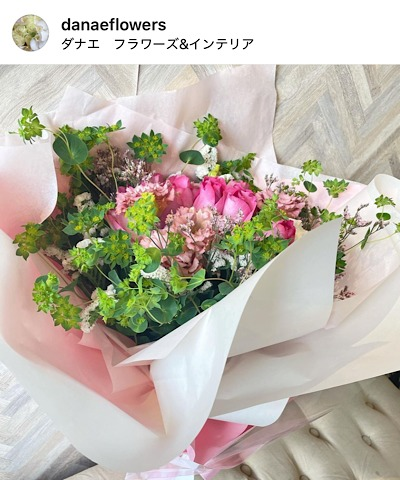 DANAE Flowers&Interior(ダナエ フラワーズ&インテリア)公式インスタグラムから引用した花束の画像
