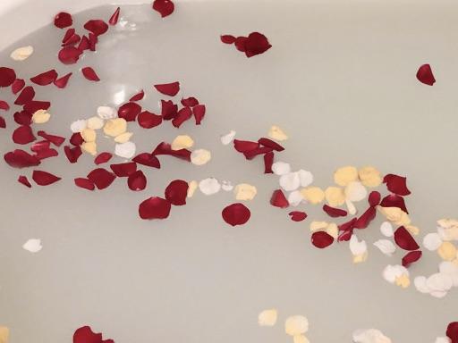 バラ風呂を私が撮影した画像